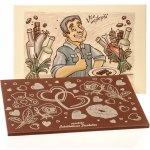 Čokoládovna Troubelice Velká čokoláda s reliéfem pro muže mléčná 51% 120g