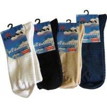 ponožky pro diabetiky s masáží chodidla bílá