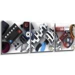 WEBLUX Obraz 3D třídílný - 150 x 50 cm - Car parts Autodíly