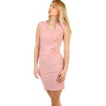 5d5309df02bd YooY dámské společenské pouzdrové šaty 308019 růžová