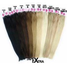 czVlasy.cz Asijské vlasy na metodu TAPEX EXTRA odstín 1 Délka  50 cm d8644e875b0