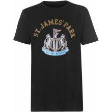 ! Source Lab Newcastle United Crest T Shirt Mens Black