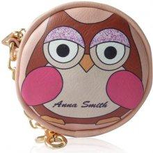 Anna Smith dětská peněženka na mince s motivem sovy růžová