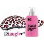 Dtangler kartáč na vlasy leopard růžová + Detangler sprej 100 ml dárková sada