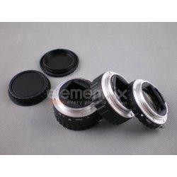 Elementrix Makro mezikroužky pro Canon s přenosem clony kov