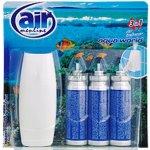 Air Menline Aqua World Happy Osvěžovač vzduchu komplet sprej + náplně 3 x 15 ml