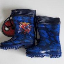Disney chlapecké gumáky/holínky Spiderman tmavě modré