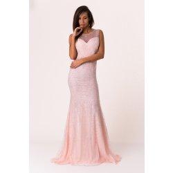 64386adabaea Soky Soka dámské společenské šaty bez rukávů dlouhé růžová od 2 039 ...