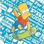 Jerry Fabrics Polštář Bart Simpson na skatu 40x40