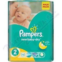 PAMPERS New Baby Mini 3-6kg 76ks Heureka.cz