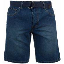 Pierre Cardin Cardin denim Web Belt shorts Mens Dark Wash