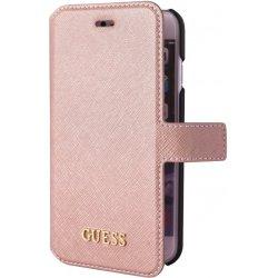 Pouzdro Guess Apple iPhone 8   7   6S   6 Saffiano Book růžové ... fd15a7a0eb8