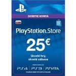 Sony PlayStation Store předplacená karta 25 EUR