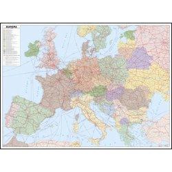 Zeleznicni Nastenna Mapa Evropy Pf2690 140 X 105 Cm Hlinikovy