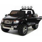 Dimix elektrické autíčko Ford Ranger Wildtrak černé lakované 2 motory R/C 24GHz EVA kola kůže