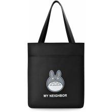 Funkční shopper dámská kabelka s vtipným potiskem černá 799b51aea3