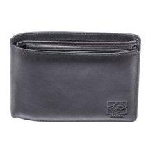 Kubát Pánská kožená černá peněženka Kůže 70312
