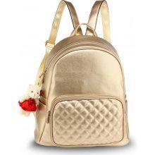 Anna Grace elegantní batoh s prošívanou kapsou zlatý ca6c081f5b