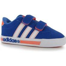 Adidas daily team dětské tenisky blu/wht/soloran