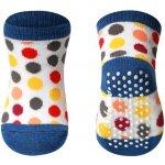4051a78a31f BabyOno Bavlněné protiskluzové ponožky Barevné puntíky modrý lem. 32 Kč