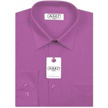 AMJ pánská košile s dlouhým rukávem Fuchsie JD081 69e6a7aba6