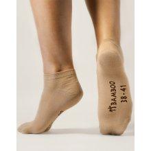 Gina dámské ponožky kotníčkové bezešvé jednobarevné Bambusové ponožky 82002P bílá