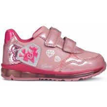 Geox Dívčí svítící tenisky Todo - růžové 49a89f7c95