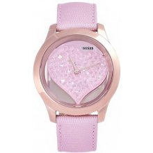 Guess Tone Clearly Inspired Heart Watch růžové