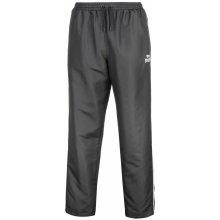 Lonsdale 2 Stripe Open Hem Woven Pants Mens Charcoal/White
