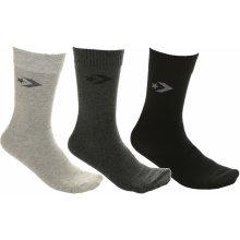 Converse ponožky Basic Crew 3 Pack - E745H Mid Gray Melange Charcoal Melange   458bb9e88e