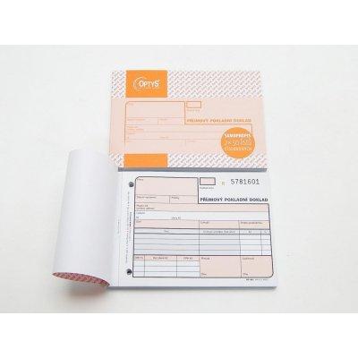 Optys 1081 Příjmový pokladní doklad samopropisovací číslovaný 2x50 listů