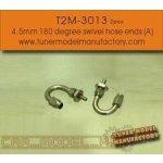 T2M Hose Ends 4.5 mm 180 Degree Swivel