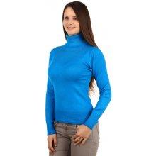 YooY elegantní svetr s rolákem a kamínky 14SR45 modrá d35a12d706