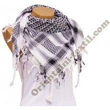 4caecb76879 Šátek Arafat Palestina bíločerný