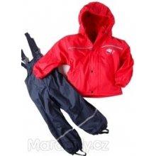 Nickel sportswear Zateplený nepromokavý set pláštěnka+kalhoty červená