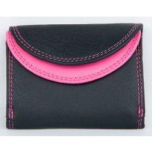 Černo kapesní maličká peněženka růžová