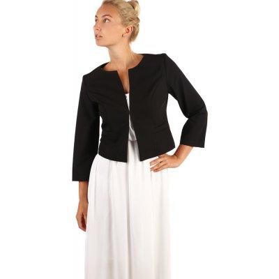 YooY elegantní sako s 3/4 rukávem černá