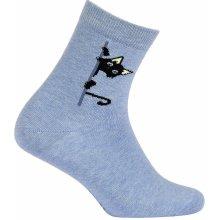 2ae5359d78c GATTA Dívčí vzorované ponožky KOČIČKA modré