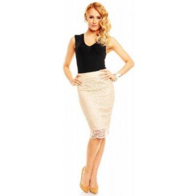 Mayaadi Deluxe 319 krajkovaná sukně krémová