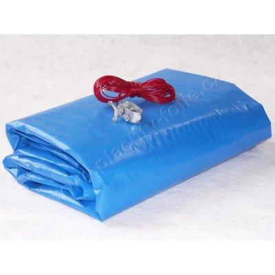 FLOBAL LD-PE tkaná zimní plachta 4,8 m na bazén kruh 3,6 m
