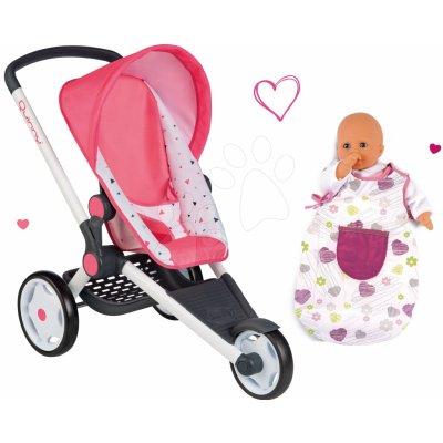 Smoby Set sportovní Trio Pastel Maxi Cosi & Quinny Jogger polohovatelný se stříškou a spací vak Baby Nurse