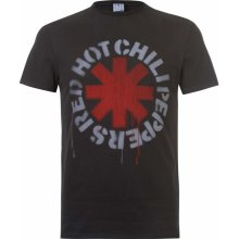 Amplified Clothing Red Hot Chili Peppers Mens T Shirt Logo