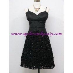 d58d3317a7f krátké společenské šaty koktejlky pro plnoštíhlé Černé alternativy ...