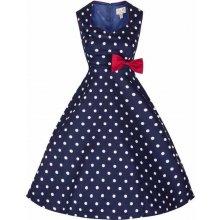 Lindy Bop retro šaty Leda Polka blue e2f9001dad