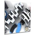 WEBLUX Skleněný obraz 1D - 50 x 50 cm - Car parts Autodíly