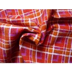 Metráž Flanel kostka červený (Bavlněný flanel)