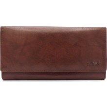19d95ca7205 Lagen Dámská kožená peněženka V-13 hnědá