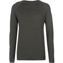 Firetrap Full Ripple Knit Jumper Mens Khaki