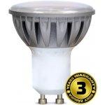 Solight LED žárovka, bodová , 7W, GU10, 3000K, 500lm, stříbrná