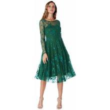 Dámské krátké společenské šaty zelená 6c5969d325